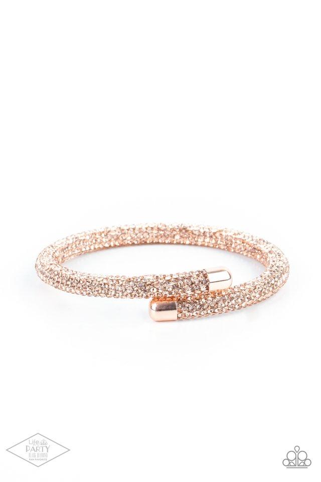 Stageworthy Sparkle - Rose Gold - Paparazzi Bracelet Image