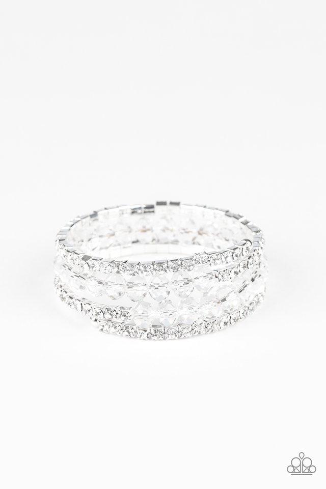 Glam-ified Fashion - White - Paparazzi Bracelet Image