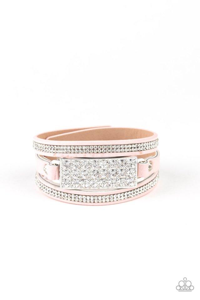 Shockingly Sparkly - Pink - Paparazzi Bracelet Image