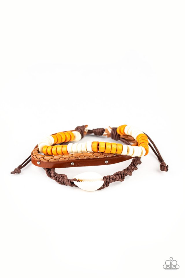 Beach Bounty - Orange - Paparazzi Bracelet Image