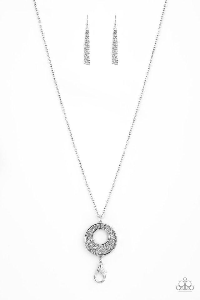 Glitzy Glow - Silver - Paparazzi Necklace Image