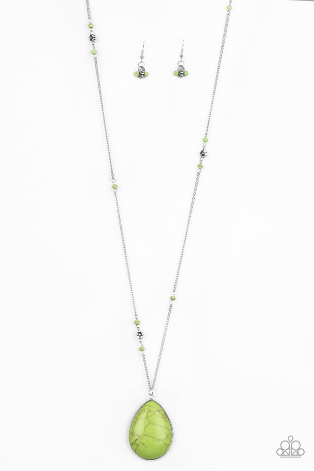 Desert Meadow - Green - Paparazzi Necklace Image