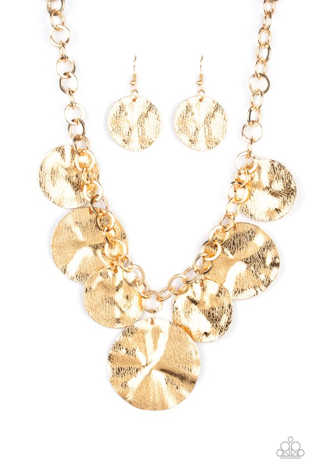 Barely Scratched The Surface - Gold - Paparazzi Necklace Image