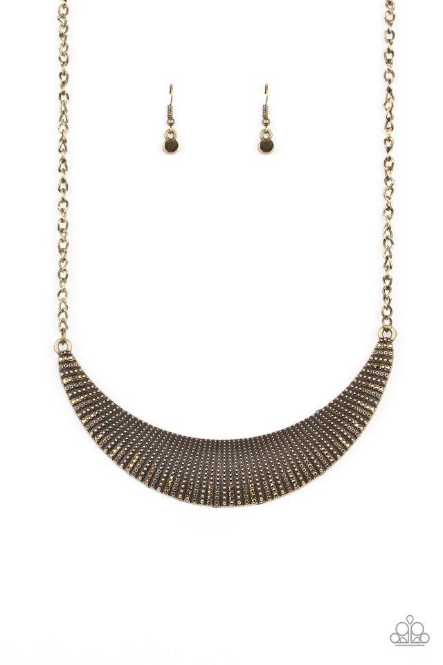 Modern Day Moonshine - Brass - Paparazzi Necklace Image