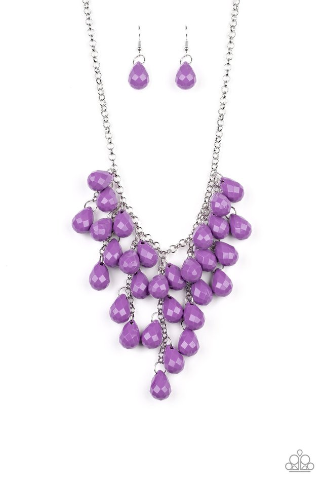 Serenely Scattered - Purple - Paparazzi Necklace Image