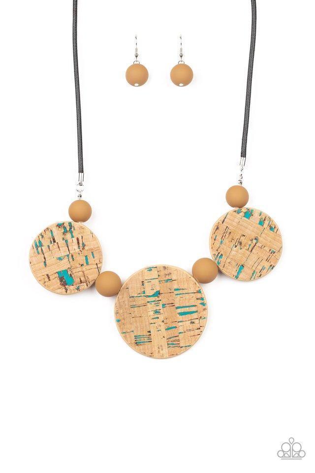 Pop The Cork - Blue - Paparazzi Necklace Image