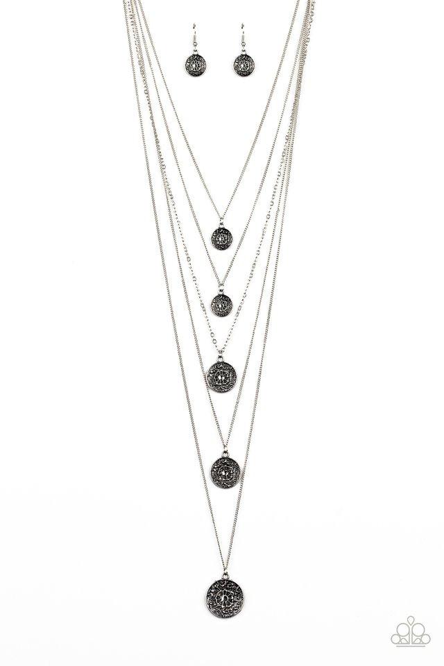 Medallion Marvel - Silver - Paparazzi Necklace Image