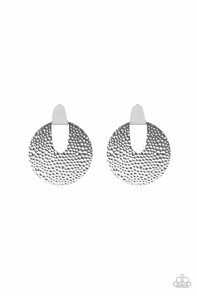 Bold Intentions - Silver - Paparazzi Earring Image
