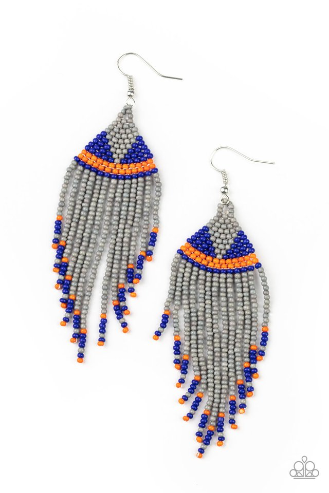 BEADazzle Me - Silver - Paparazzi Earring Image