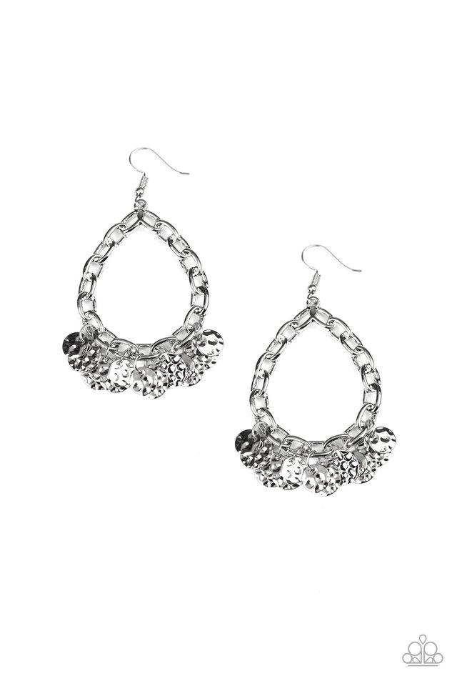 Street Appeal - Silver - Paparazzi Earring Image