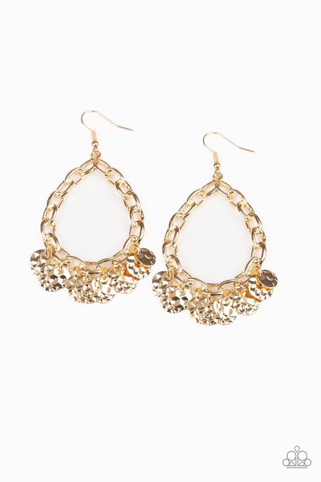Street Appeal - Gold - Paparazzi Earring Image