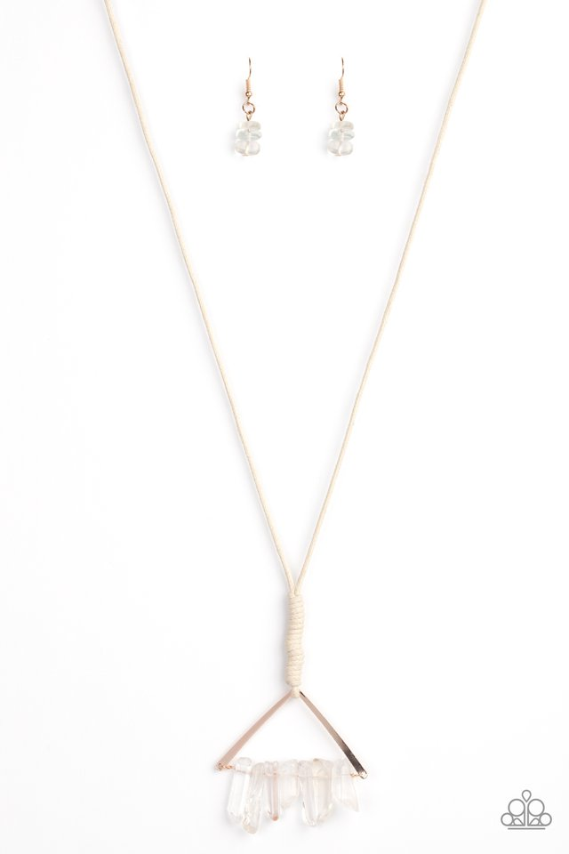 Raw Talent - Rose Gold - Paparazzi Necklace Image