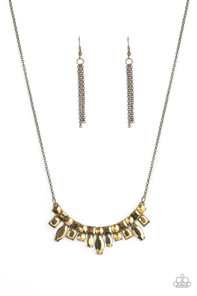 Wish Upon a ROCK STAR - Brass - Paparazzi Necklace Image
