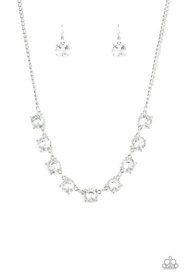 Iridescent Icing - White - Paparazzi Necklace Image