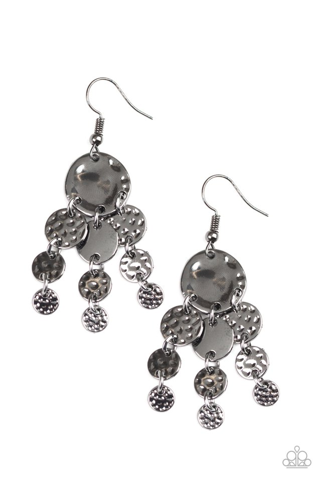 Do Chime In - Black - Paparazzi Earring Image
