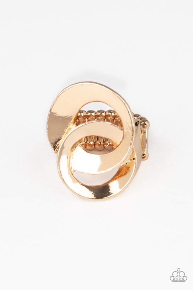 Pro Top Spin - Gold - Paparazzi Ring Image