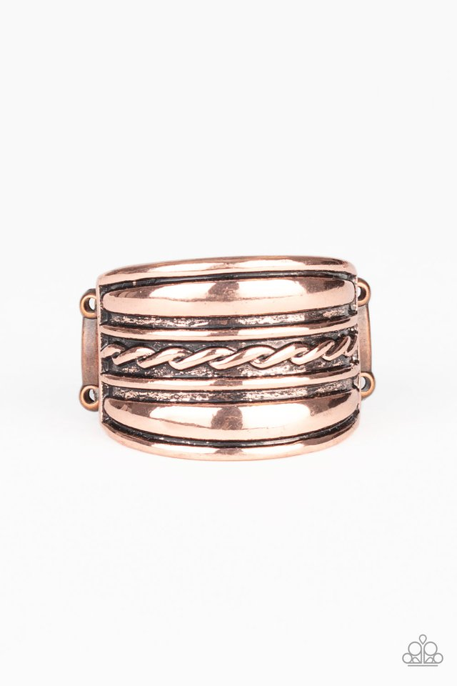 Let It LAYER - Copper - Paparazzi Ring Image