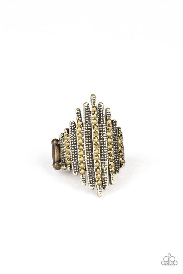 Shocking Sparkle - Brass - Paparazzi Ring Image