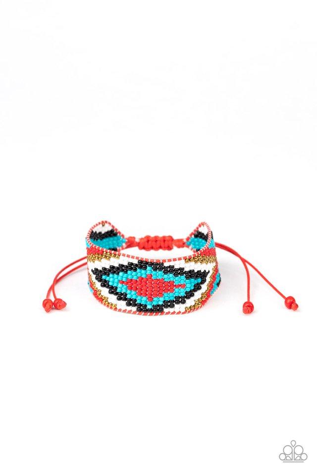 Beautifully Badlands - Red - Paparazzi Bracelet Image