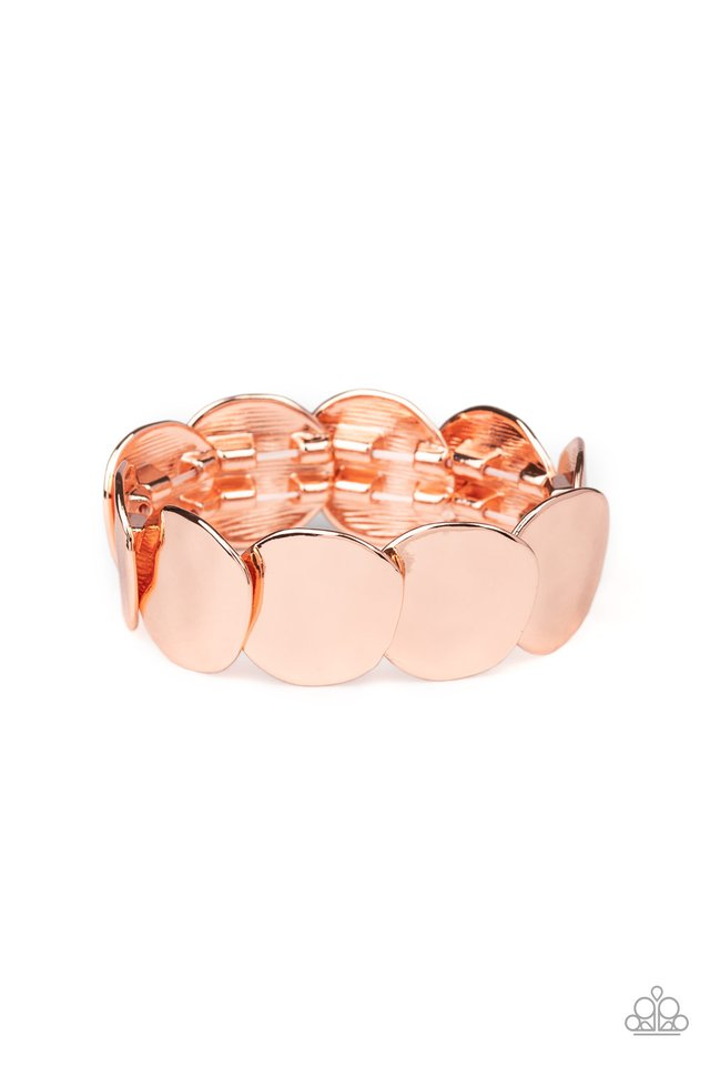 Disc Disco - Copper - Paparazzi Bracelet Image