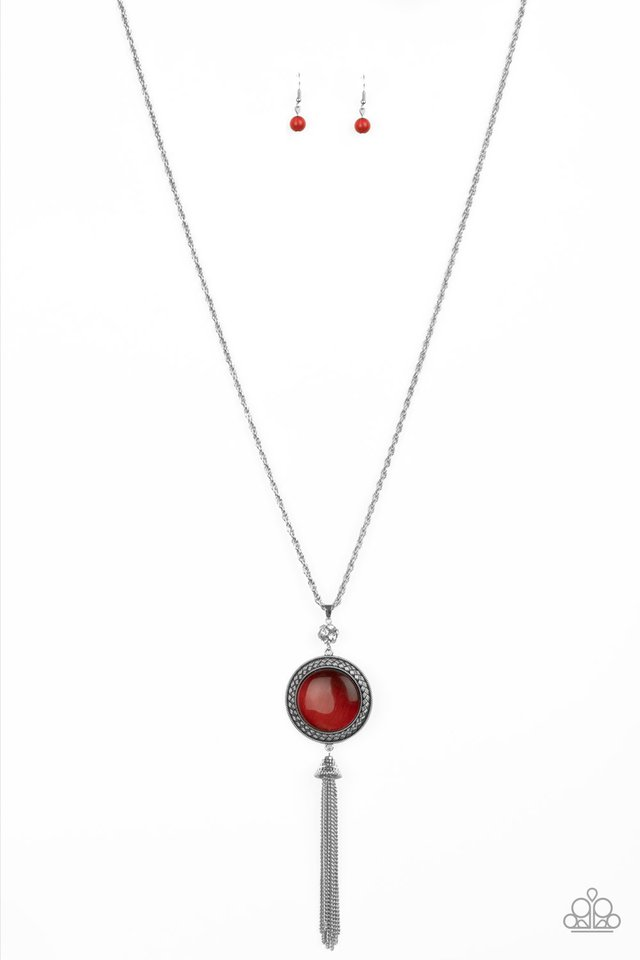 Serene Serendipity - Red - Paparazzi Necklace Image