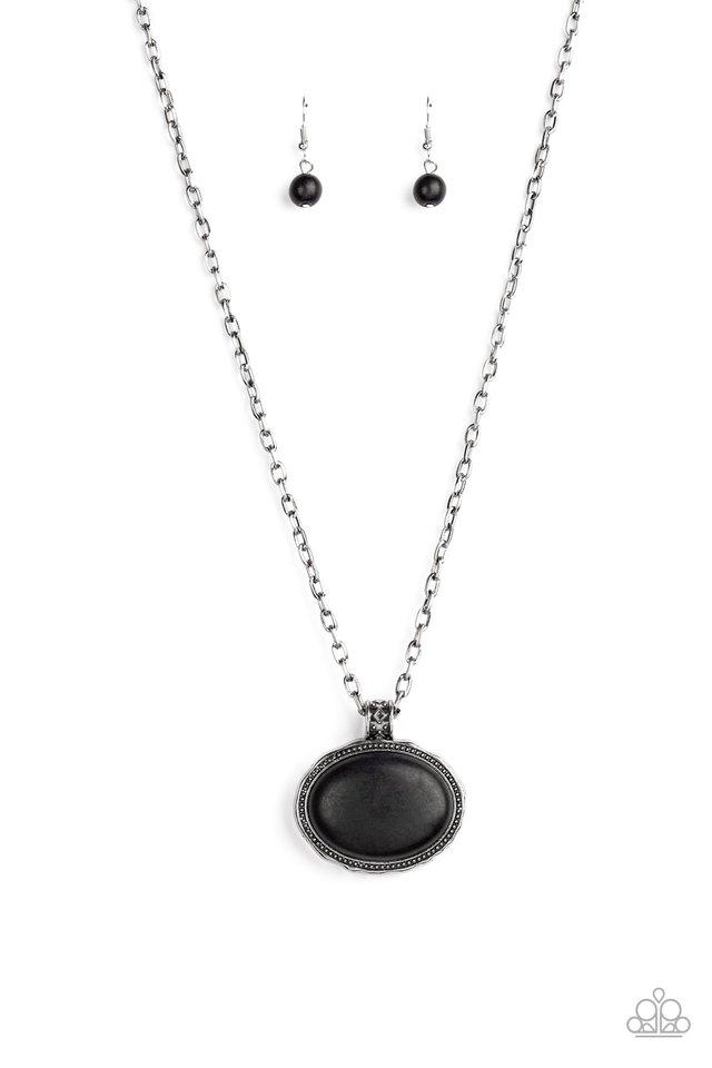 Sedimentary Colors - Black - Paparazzi Necklace Image