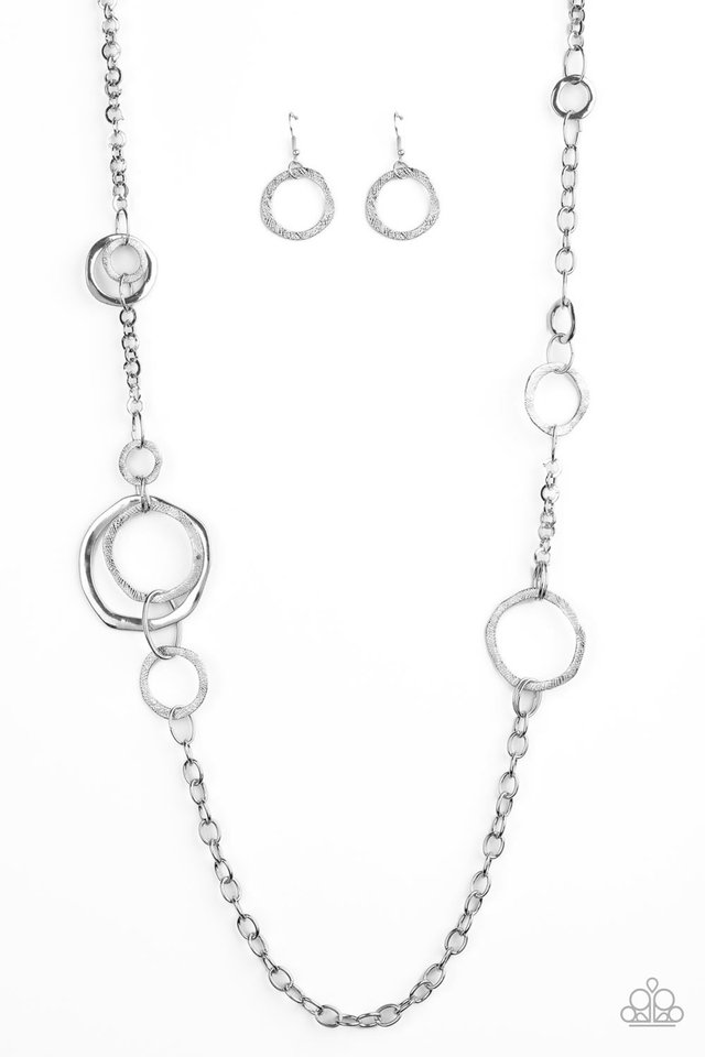 Amped Up Metallics - Silver - Paparazzi Necklace Image