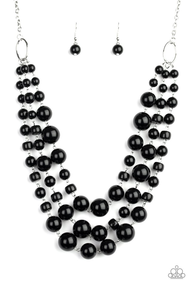 Everyone Scatter! - Black - Paparazzi Necklace Image