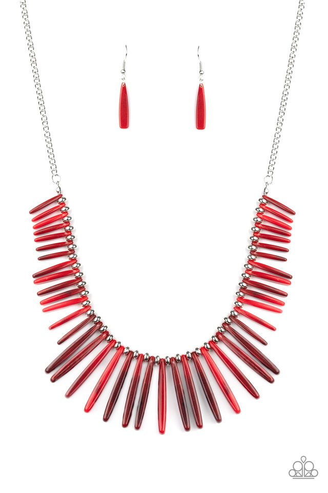 Out of My Element - Red - Paparazzi Necklace Image