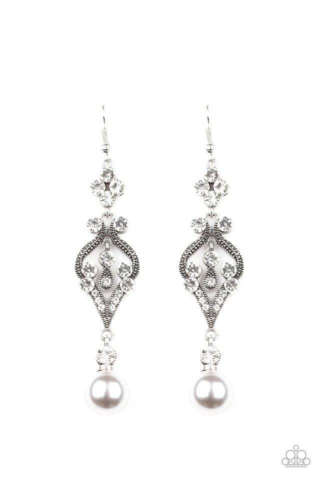 Elegantly Extravagant - Silver - Paparazzi Earring Image