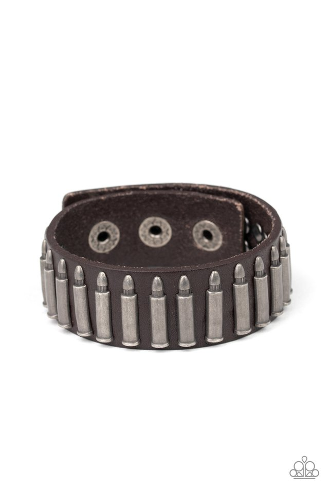 Armed and Dangerous - Brown - Paparazzi Bracelet Image