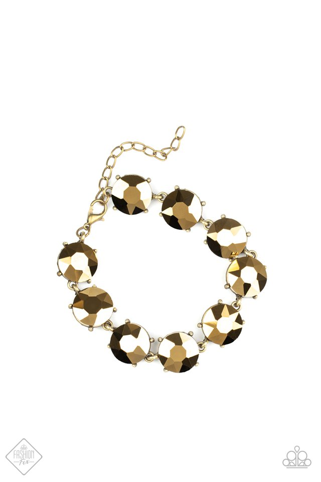 Fabulously Flashy - Brass - Paparazzi Bracelet Image