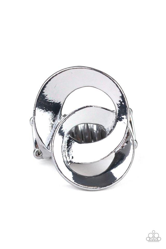 Pro Top Spin - Black - Paparazzi Ring Image