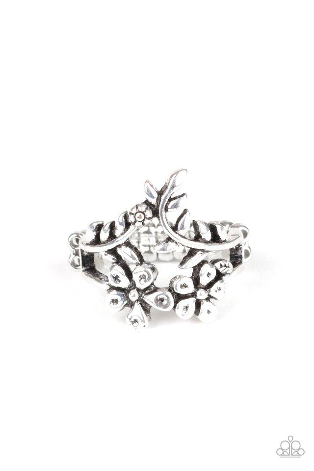 Secret Eden - Silver - Paparazzi Ring Image