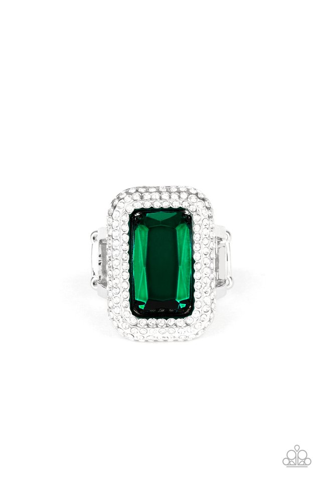A Grand STATEMENT-MAKER - Green - Paparazzi Ring Image