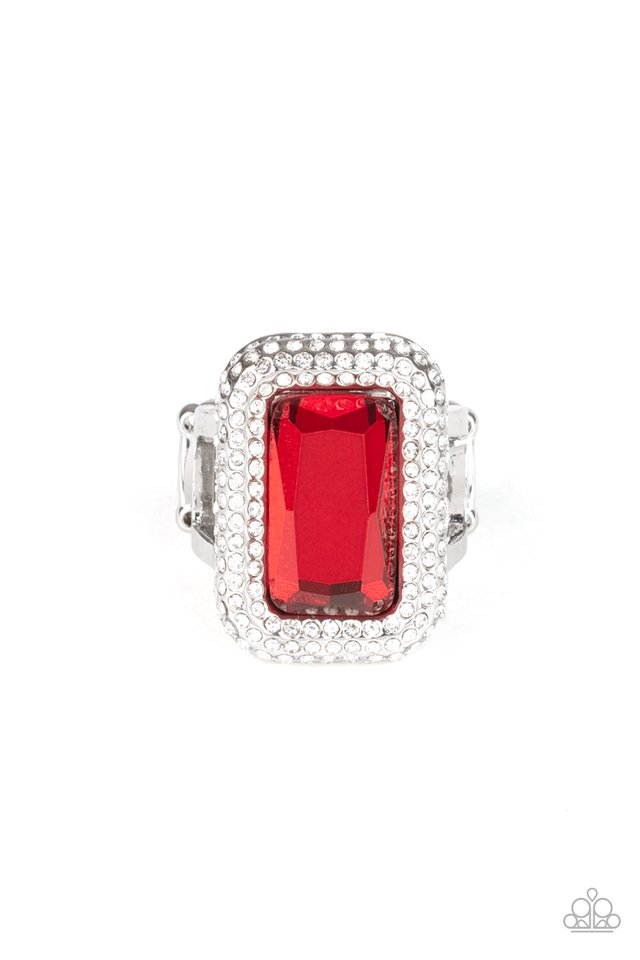 A Grand STATEMENT-MAKER - Red - Paparazzi Ring Image