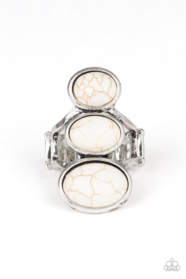 Rural Revolution - White - Paparazzi Ring Image