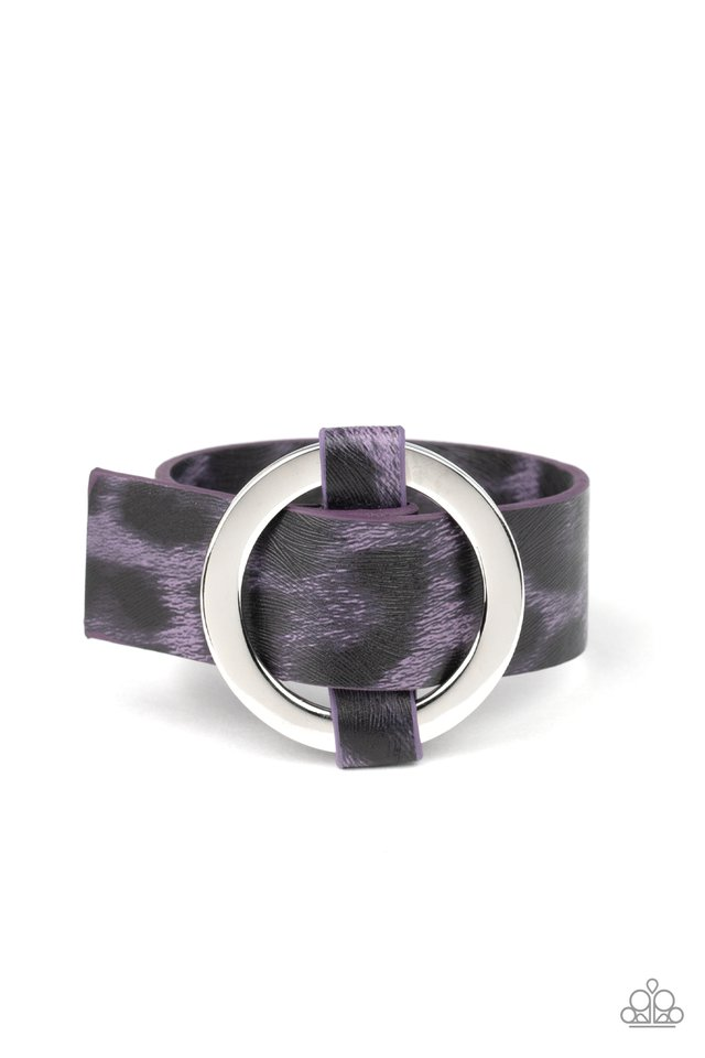 Jungle Cat Couture - Purple - Paparazzi Bracelet Image