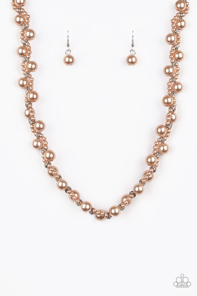 Uptown Opulence - Brown - Paparazzi Necklace Image