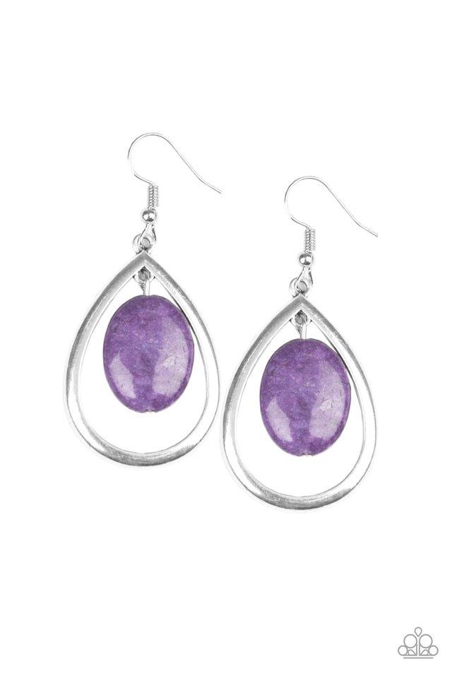 Seasonal Simplicity - Purple - Paparazzi Earring Image
