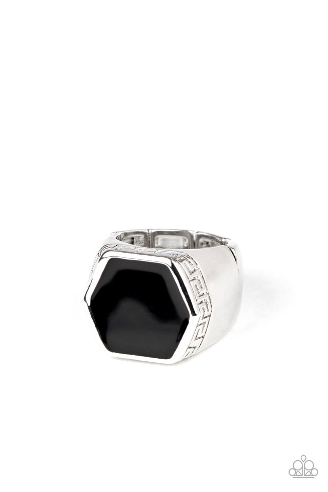 HEX Out - Black - Paparazzi Ring Image