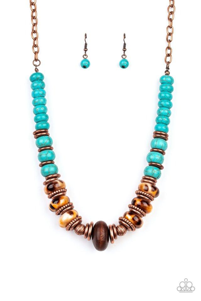 Desert Tranquility - Copper - Paparazzi Necklace Image