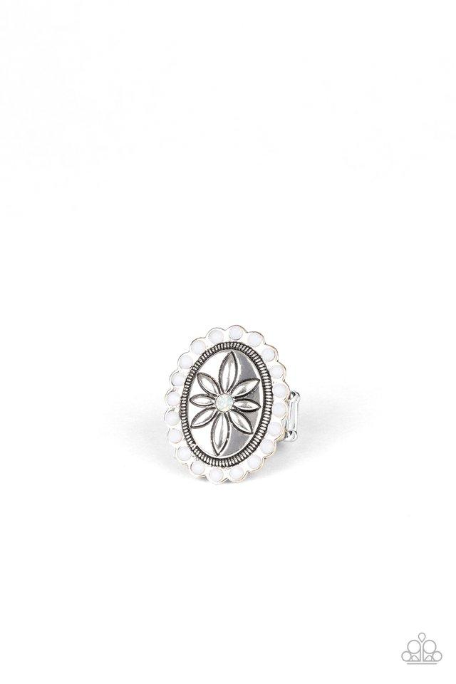 Garden Paradise - White - Paparazzi Ring Image