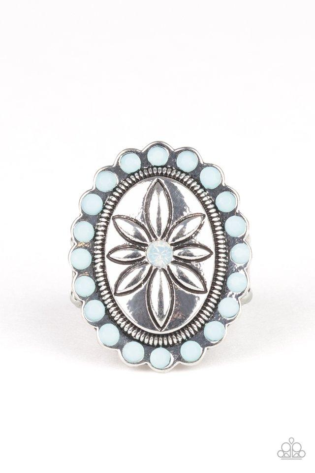 Garden Paradise - Blue - Paparazzi Ring Image