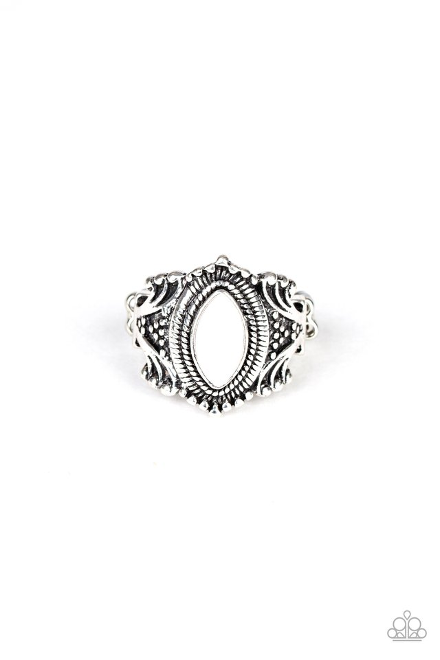 Tangy Texture - White - Paparazzi Ring Image