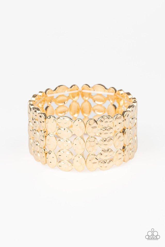 Tectonic Texture - Gold - Paparazzi Bracelet Image