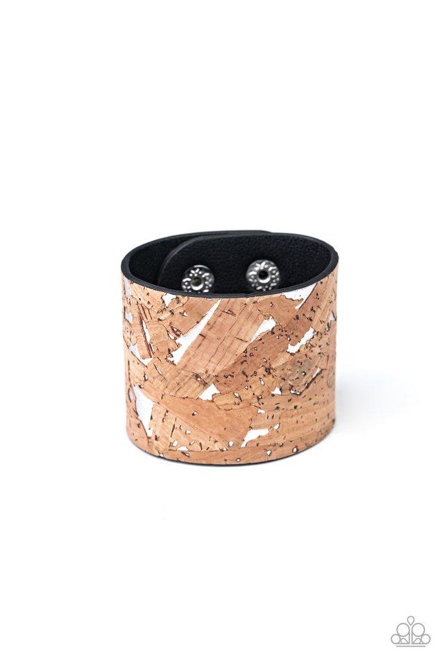Cork Congo - Silver - Paparazzi Bracelet Image