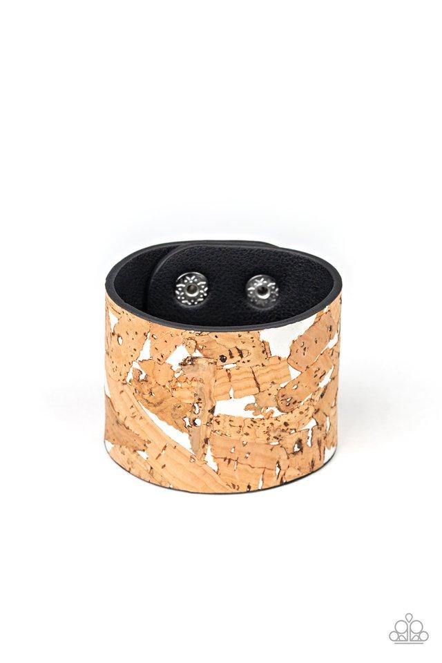 Cork Congo - White - Paparazzi Bracelet Image