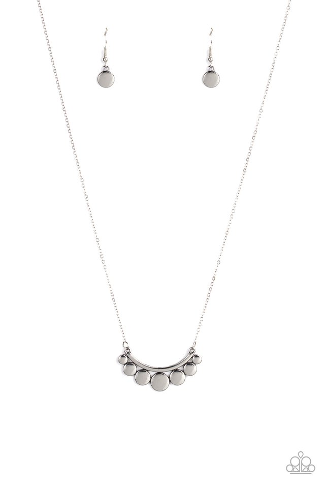 Melodic Metallics - Silver - Paparazzi Necklace Image