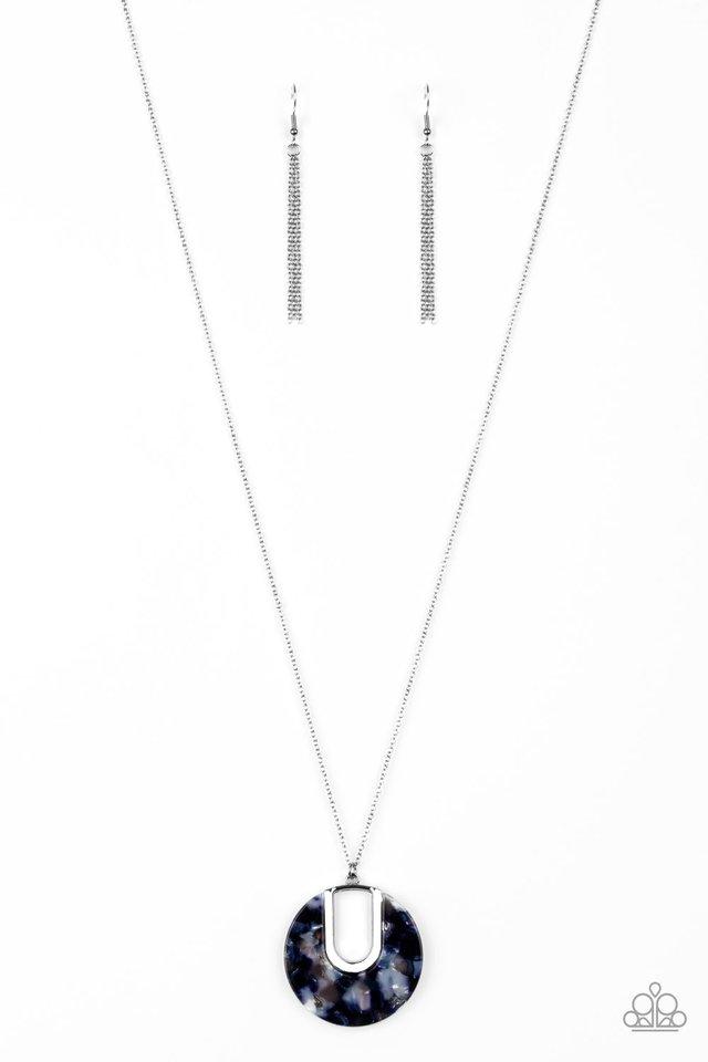 Setting The Fashion - Blue - Paparazzi Necklace Image